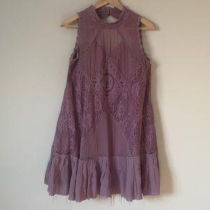Free People Cotton Lace Trapeze Dress